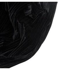 New Look Schmaler, plissierter Samtschal in Schwarz