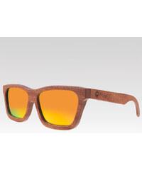 Plantwear dřevěné sluneční polarizační brýle Classic oranžové