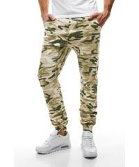 Athletic Moderní stylové béžové maskáčové baggy kalhoty ATHLETIC 367