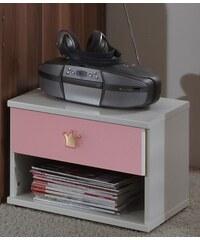Wimex Cinderella - Noční stolek (bílá, růžová)