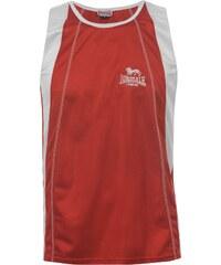 Sportovní tílko Lonsdale Perforated Unisex Adults pán. červená/bílá