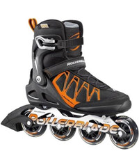 Rollerblade Herren Inlineskates Aero SC 80 schwarz/orange