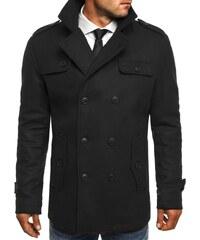 Černý pánský kabát s knoflíky J.STYLE 3142