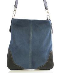 Světle-modrá kožená crossbody kabelka ItalY 10062 modrá