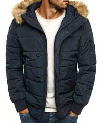 J. Style Praktická pohodlná zimní pánská bunda s kožíškem J.STYLE 3098