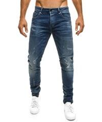 XZX-Star Pohodlné pánské tmavě modré džíny XZX-STAR 51609