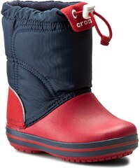 Sněhule CROCS - Crocband Lodgepoint Boot 203509 Navy/Red