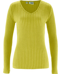 bpc bonprix collection Pull vert manches longues femme - bonprix