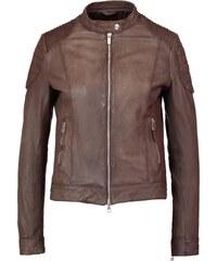 Goosecraft BIKER Veste en cuir brown