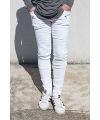 Sixth June Jeans Biker Stries White