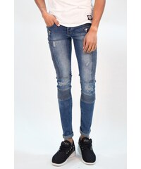 Sixth June Jeans Biker Destroyed Blue