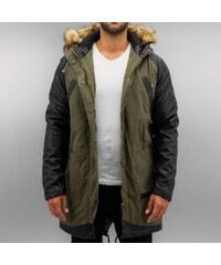 Bangastic PU Sleeves Coat Green