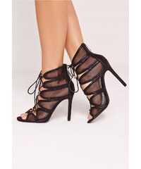 Missguided - Sandály Mesh Lace Up