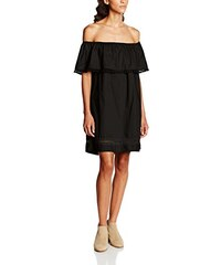 Tantra Damen Kleid Off-The-Shoulder Dress with Pompoms and Vainica