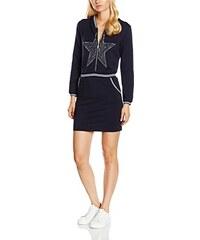 TANTRA Damen Kleid Stars Dress with Hood and Zipper