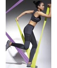 BAS BLEU Fitness legíny Fortessa black graphite