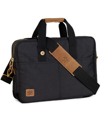 FAGUO Schwarze Laptop-Tasche Fratelli aus Nylon