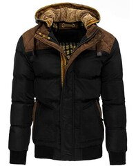 Odolná pánská zimní bunda černá