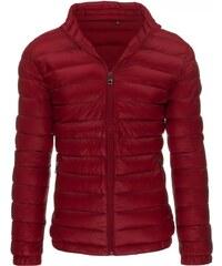 Fajnová červená zimní pánská bunda