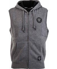 Russell Athletic ZIP THROUGH GILET WITH TWILL ROSETTE BADGE zelená S