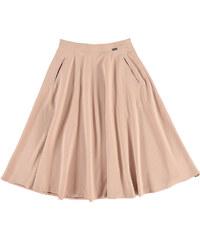 Figl Růžovo-béžová sukně M317