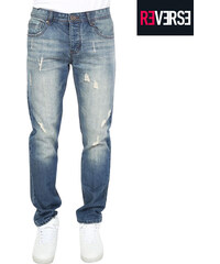 Re-Verse Jeans im Used-Look mit Farb-Highlights - 31