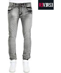 Re-Verse Jeans slim délavé gris