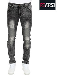 Re-Verse Skinny Fit-Jeans mit Acid-Waschung - 30