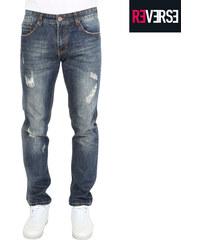 Re-Verse Regular Fit-Jeans im Used-Look - 30