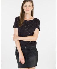 T-shirt à pois noir, Femme, Taille L -PIMKIE- MODE FEMME