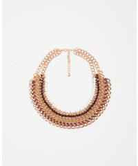 Collier plastron orange, Femme, Taille 00 -PIMKIE- MODE FEMME