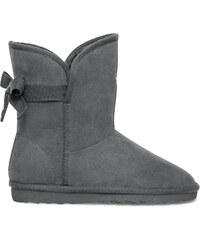 Eram Boots fourré noeud junior gris