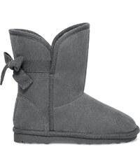 Eram Boots fourré noeud fille gris