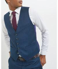 Ted Baker Debonair-Weste aus Baumwoll-Flanell Blau