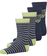 Ewers 4 PACK Socken blau/grau/lime