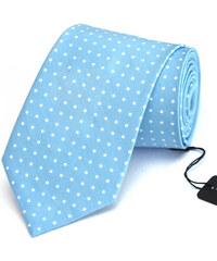 Klukovna Světle modrá kravata s bílými puntíky