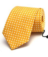 Klukovna Žlutá kravata s bílými puntíky