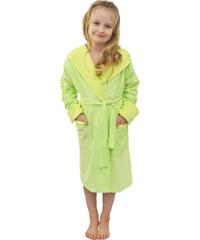 Madlen style Dětský župánek Mela žluto zelený
