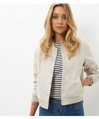 New Look Beige Bomberjacke aus Wildlederimitat