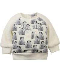 Dirkje Dívčí mikina s tučňáky - krémová