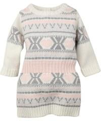 Dirkje Dívčí pletené vzorované šaty - barevné