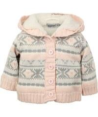 Dirkje Dívčí vzorovaný svetr s kapucou - barevný