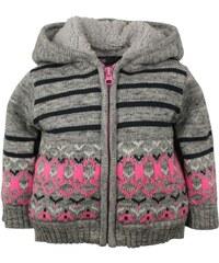 Dirkje Dívčí svetr s proužky a vzorem - šedý
