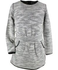 Dirkje Dívčí žíhané šaty - šedé