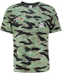 New Black TIGER Tshirt imprimé wood