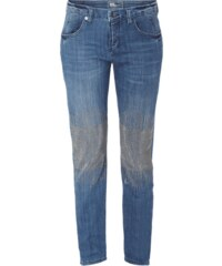 MAC Cropped Slim Fit Jeans mit Nietenbesatz