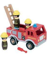 WDK Partner Camion de pompier en bois - multicolore