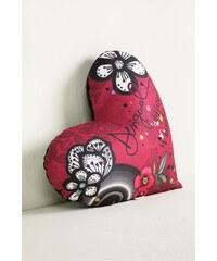 Desigual dekorativní polštář Heart B&W