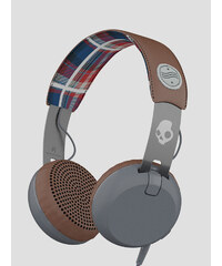Sluchátka Skullcandy GRIND ON-EAR W/TAP TECH AMERICANA/PLAID/GRAY
