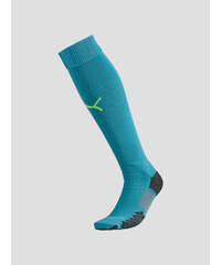 Stulpny Puma Match Socks blue atoll-safety yellow